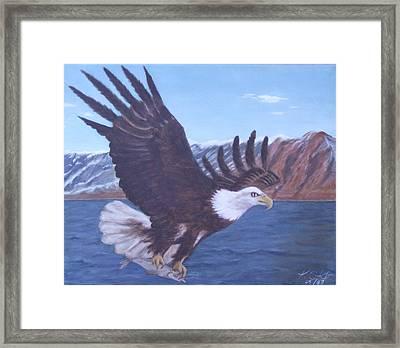 Walker Lake Framed Print by KC Knight