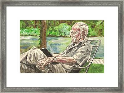 Walker Percy At The Lake Framed Print