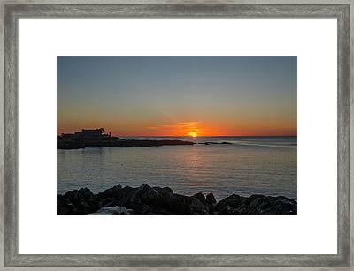 Walkers Point Kennebunkport Maine Framed Print