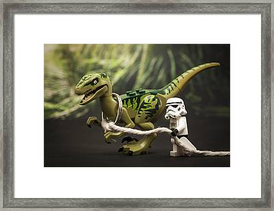 Walkies Framed Print