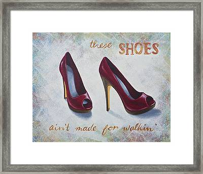 Walkin' Shoes Framed Print by Nicola Hill