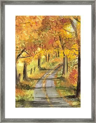 Walkin Framed Print by Vivian  Mosley
