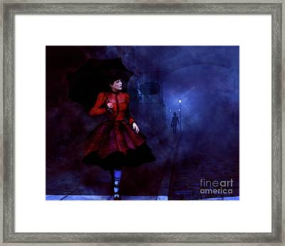 Framed Print featuring the digital art Walking After Midnight by Methune Hively