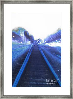 Framed Print featuring the photograph Walking Alone by Angelique Bowman