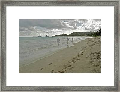 Walking Alone Framed Print