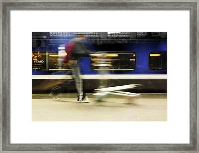 Walking Along The Quay Framed Print by Martine Affre Eisenlohr