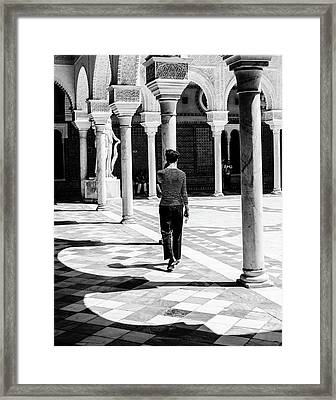 Walking Among The Shadows Framed Print