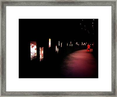 Walking Among The Stories Framed Print