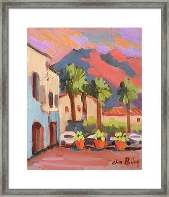 Walking Area In Old Town La Quinta Framed Print