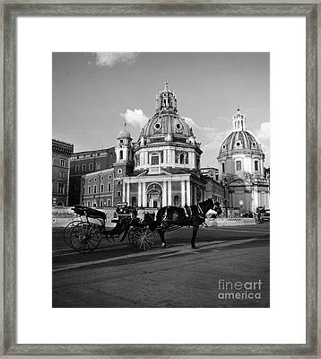 Walking Around The City Of Rome  Framed Print