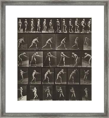 Walking, Ascending, Throwing Framed Print