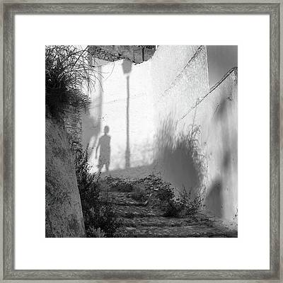 Walking At The Antique City Framed Print