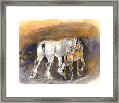 Walking Away Framed Print by Mary Armstrong