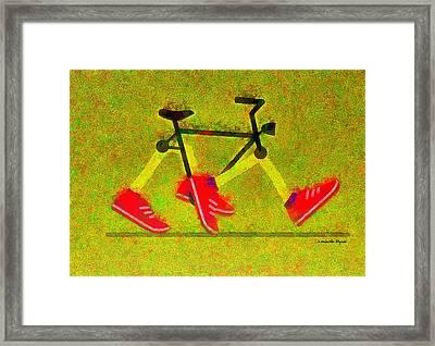 Walking Bike - Da Framed Print by Leonardo Digenio