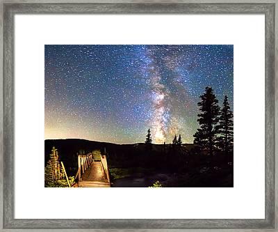 Walking Bridge To The Milky Way Framed Print