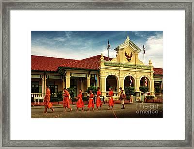 Walking Framed Print by Buchachon Petthanya