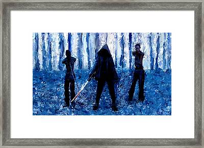 Walking Dead Michonne Art Painting Signed Prints Available At Laartwork.com Coupon Code Kodak Framed Print by Leon Jimenez
