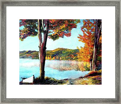 A Walk Down Lake Champlain Framed Print
