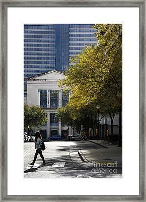 Walking Downtown Framed Print by Marina McLain