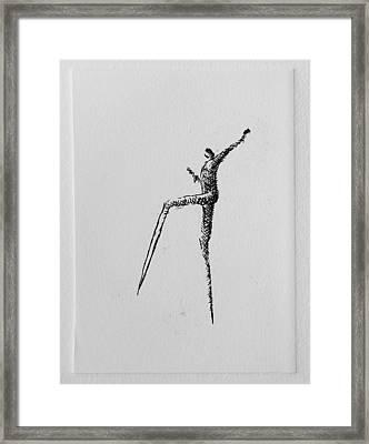 Walking II Framed Print by Valdas Misevicius