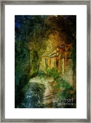 Walking In A Williamsburg Garden Framed Print