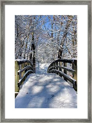Walking In A Winter Wonderland Framed Print by Kristin Elmquist