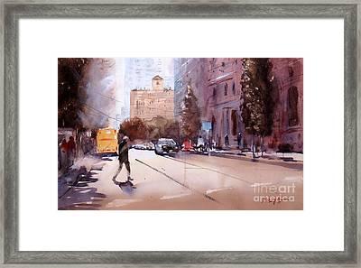 Walking In Brisbane 1 Framed Print