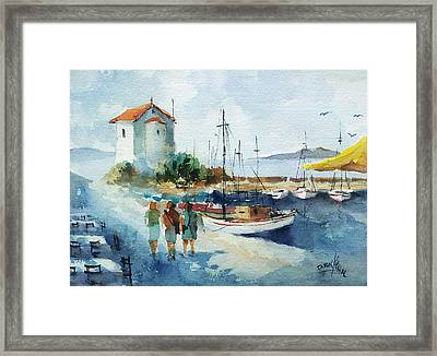 Walking In Lesbos Island... Framed Print by Faruk Koksal