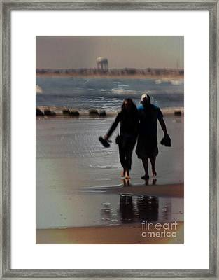Walking In Love Framed Print by Tom Gari Gallery-Three-Photography