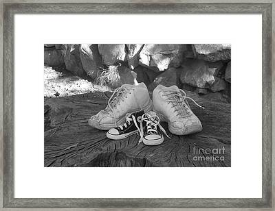 Walking In My Shoes Framed Print