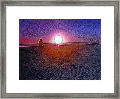Walking In The Glow Framed Print