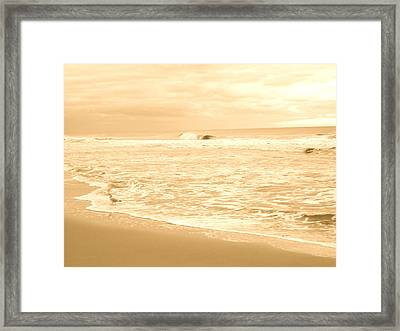 Walking In The Light Framed Print by Joe  Burns
