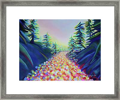 Walking In The Light Framed Print