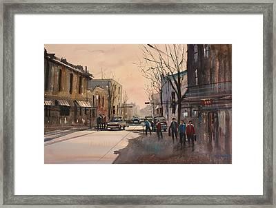 Walking In The Shadows - Fond Du Lac Framed Print by Ryan Radke