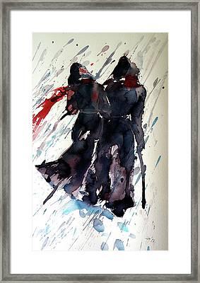 Walking In The Storm Framed Print by Kovacs Anna Brigitta