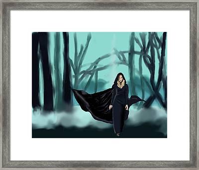 Walking In The Woods Framed Print