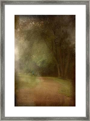 Walking Into A Dream - Holmdel Park Framed Print by Angie Tirado