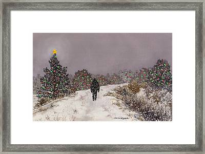 Walking Into The Light Framed Print by Anne Gifford