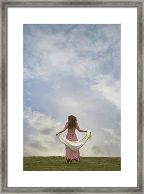 Walking Into The Sky Framed Print by Joana Kruse