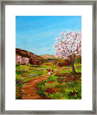 Walking Into The Springfields Framed Print by Constantinos Charalampopoulos