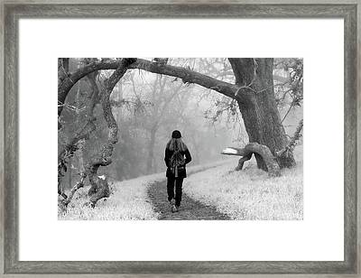 Walking Into The Unknown Framed Print by Alessandra RC