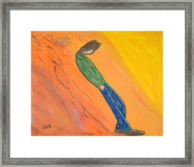 Walking Man Framed Print