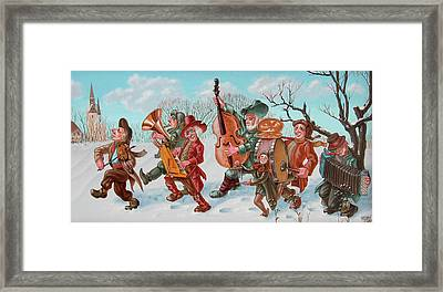 Walking Musicians Framed Print