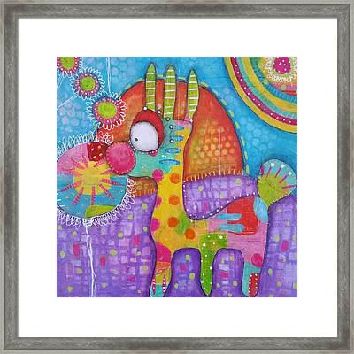 Walking My Way Framed Print