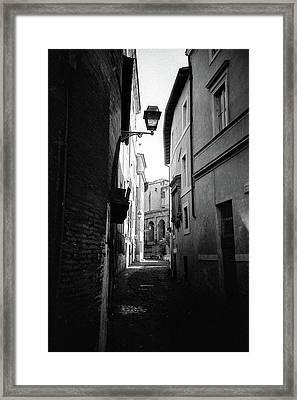 Walking Near The Campidoglio Framed Print