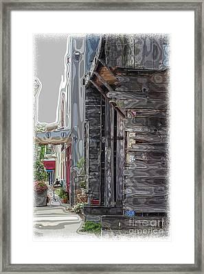 Walking Old Town Framed Print