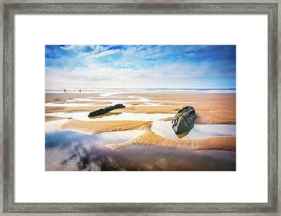 Walking On A Beach Framed Print by Svetlana Sewell