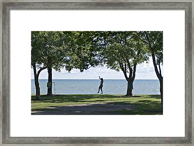 Walking On A Wire Framed Print