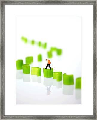Walking On Celery  Framed Print