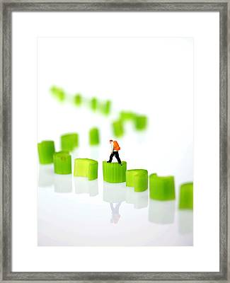 Walking On Celery  Framed Print by Paul Ge